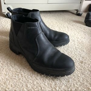 BLACK MERRELL ANKLE BOOTS